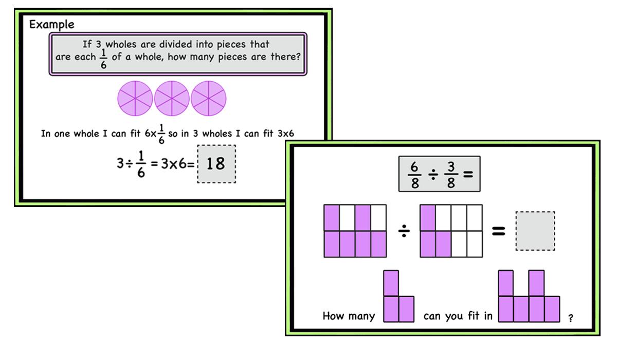 Dividing Fractions -Understanding the algorithm (Print and Digital With Dividing Fractions Using Models Worksheet